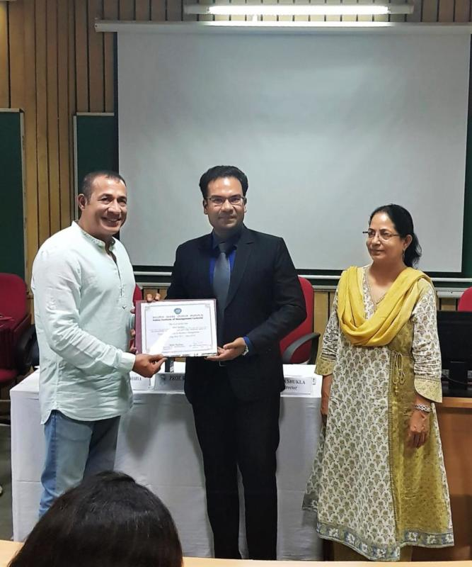 With our esteemed faculty at IIM Lucknow