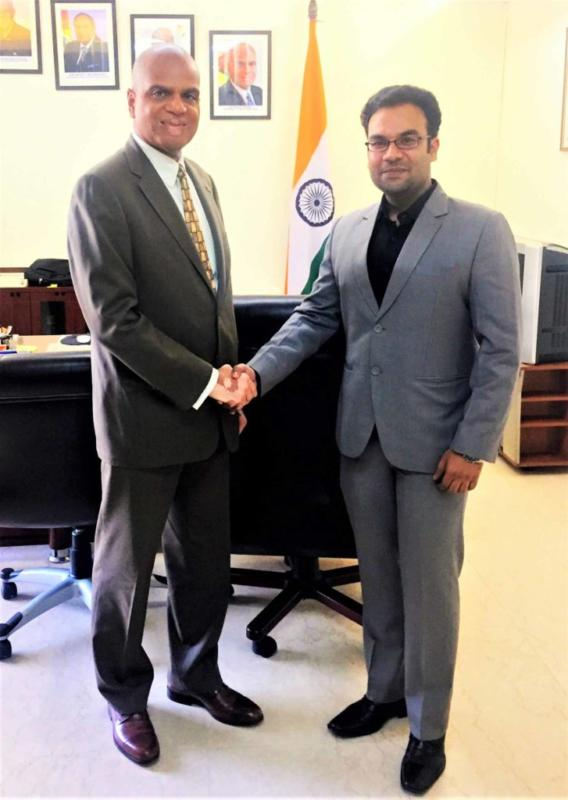 Meeting with Dr. David G Pollard - High Commissioner of Guyana to India